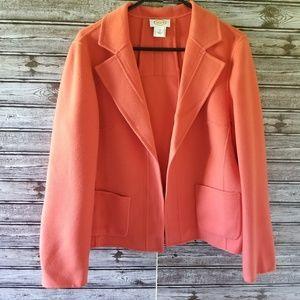 Talbots 100% Wool Open Front Blazer Size 12